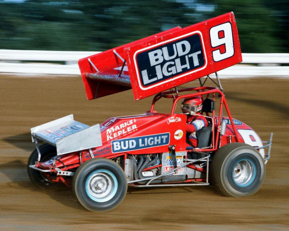 Sills driving the Marks & Kepler sprint at Williams Grove, PA, 1985. (courtesy Sills archive)