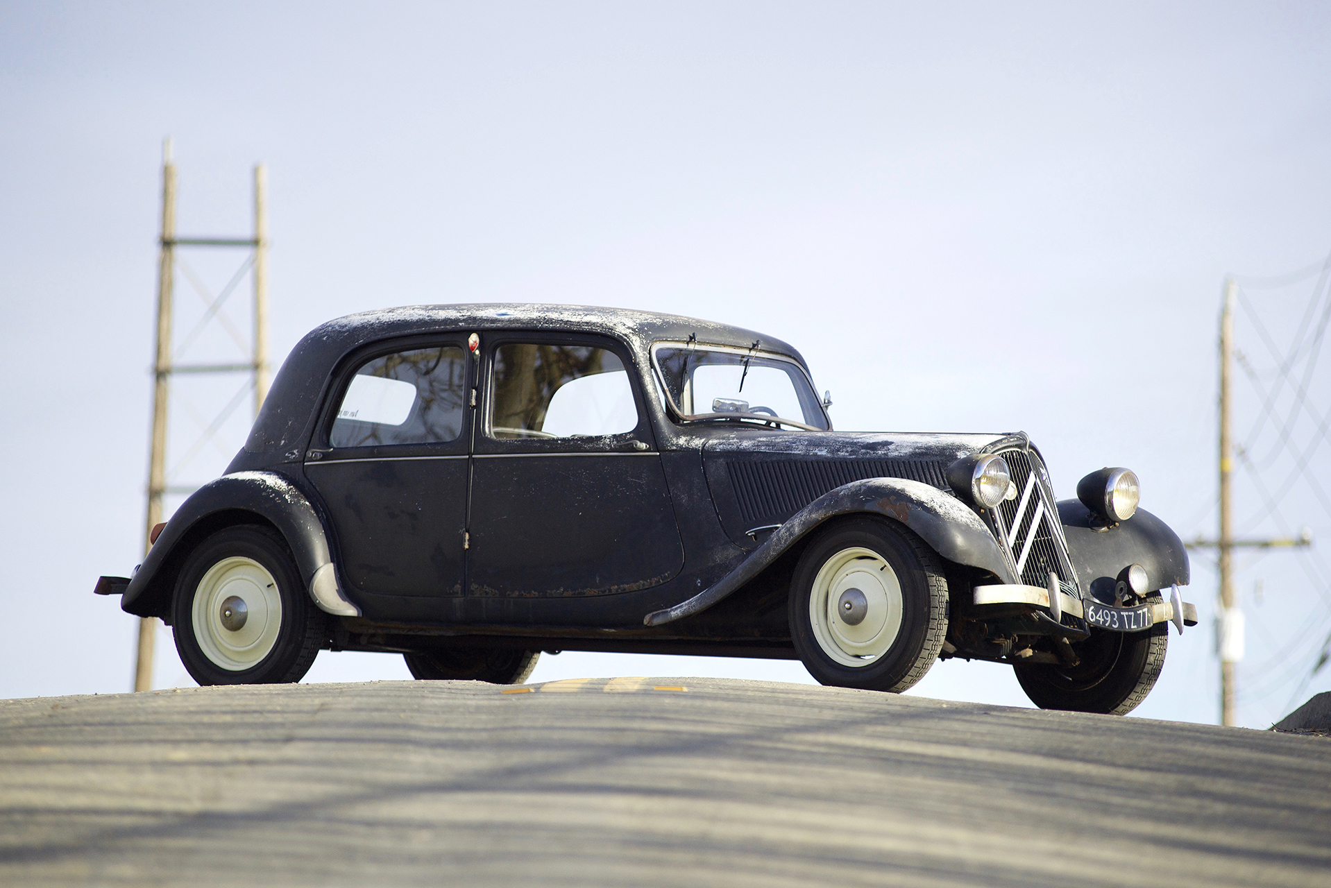 Chris Sanchez' 1949 Citroën 11CV Berline Légère Traction Avant has great lines with plenty of patina. It's not hard to see why it was a big hit with the French public.