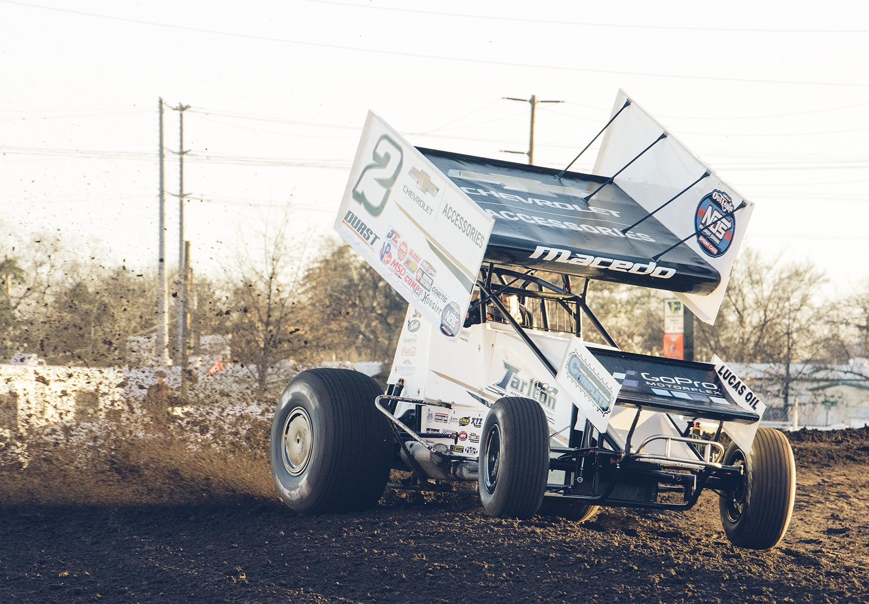 Macedo on the gas at Chico, 2019.