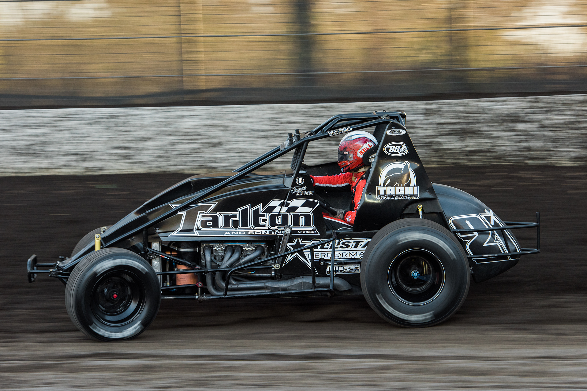 Wheeling the Tarlton wingless sprint during Calistoga's 2016 Vermeil Classic.