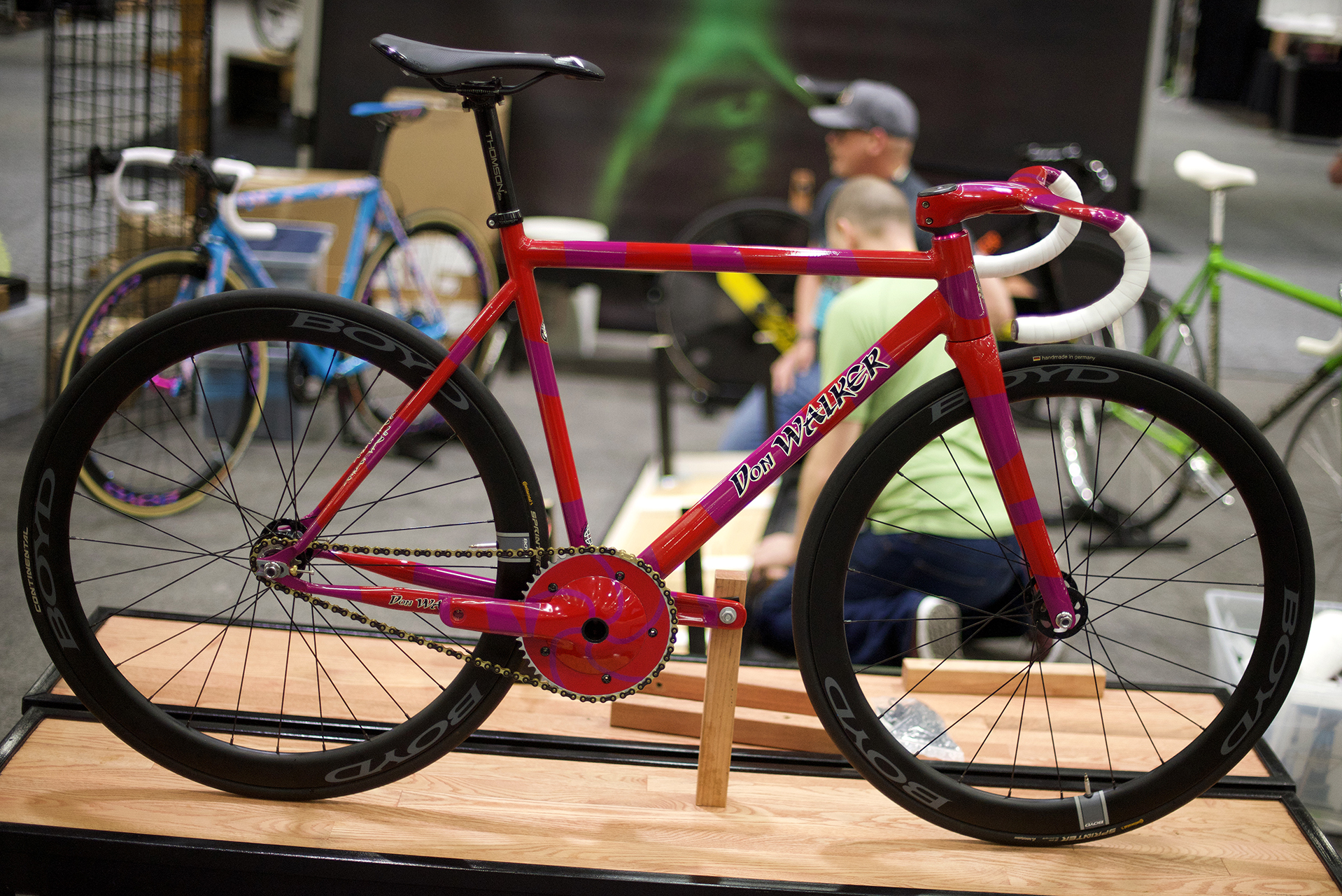 Frame builder Don Walker is the originator of the North American Hand Made Bicycle Show.