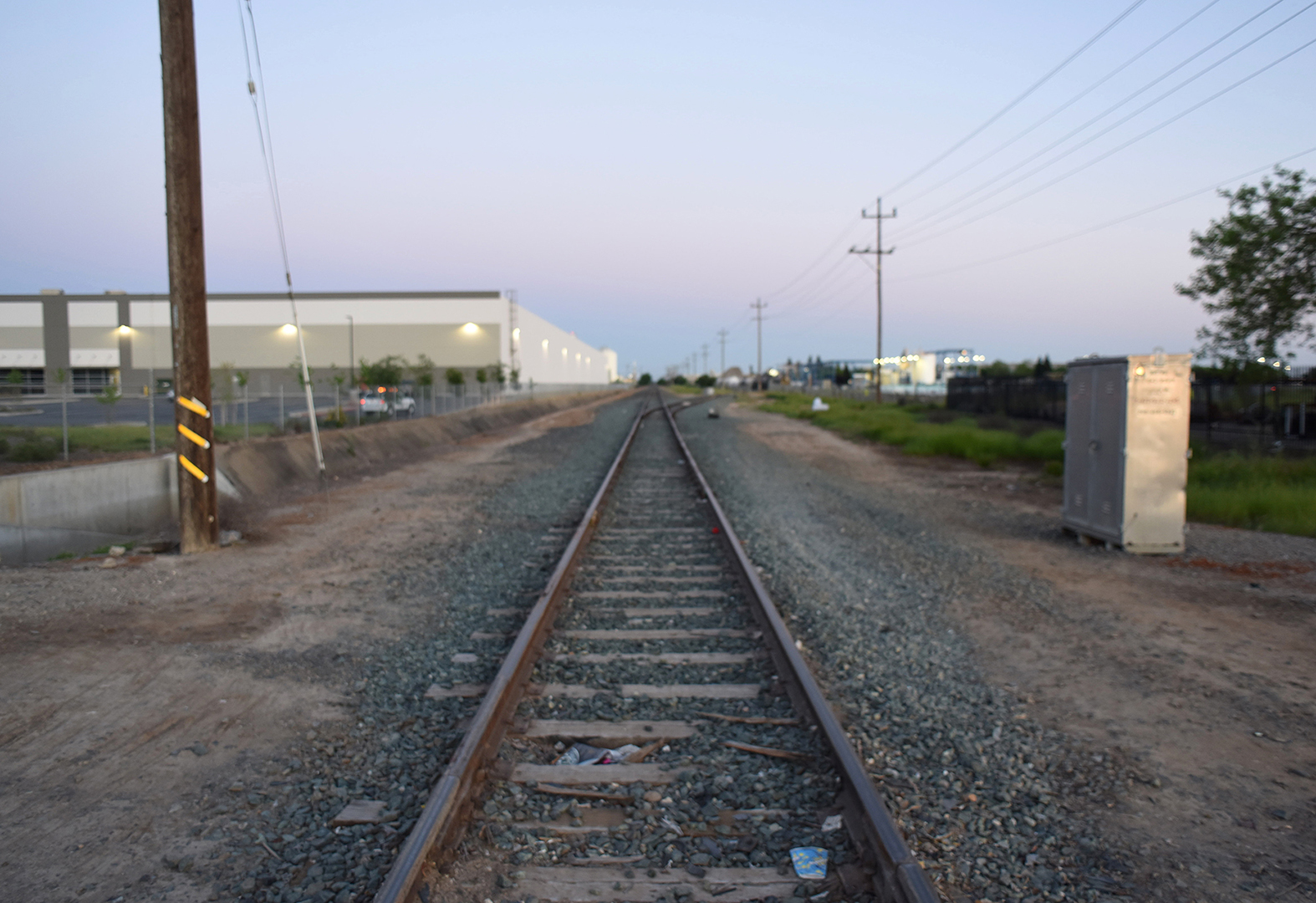 The railroad tracks at Fruitridge Road where Lance recovered Little Ricky.