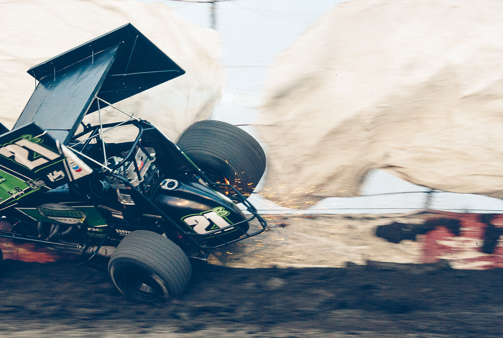 Dylan Black jumps over the ragged edge at Tulare.