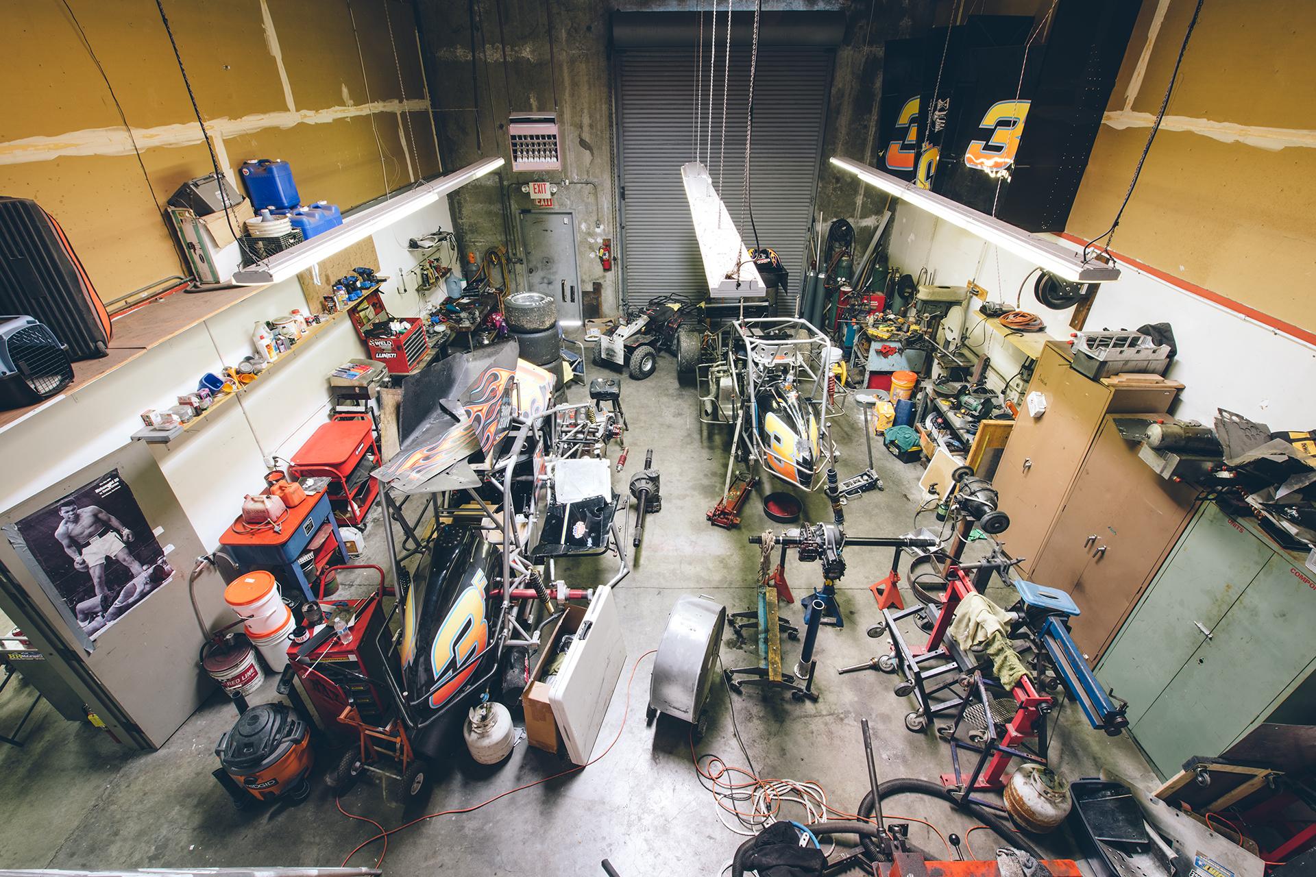 The pavement sprint car shop at Finkenbinder Motorsports.