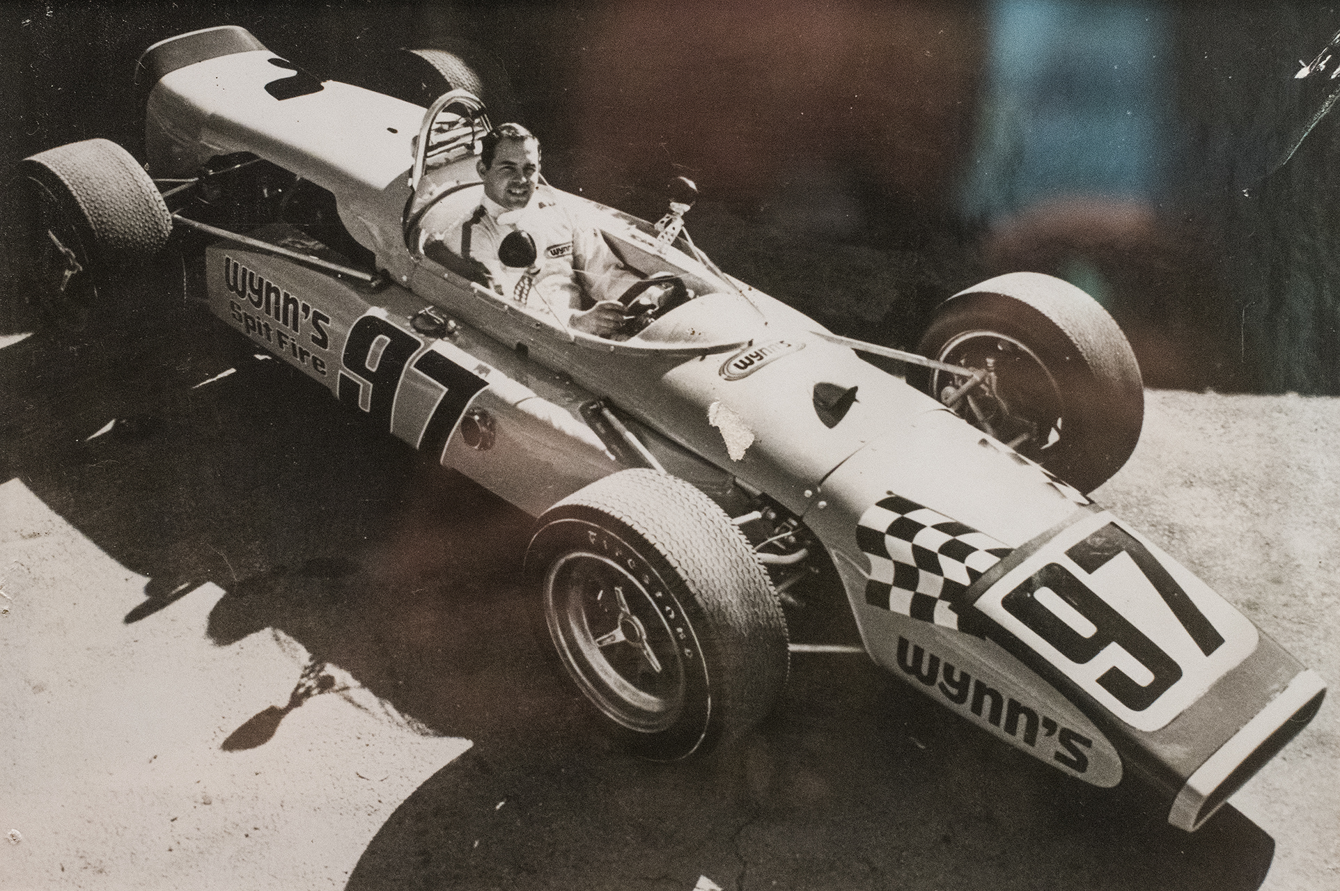 Johnny in his USAC Indy car at Phoenix, 1970. (Archive photo)