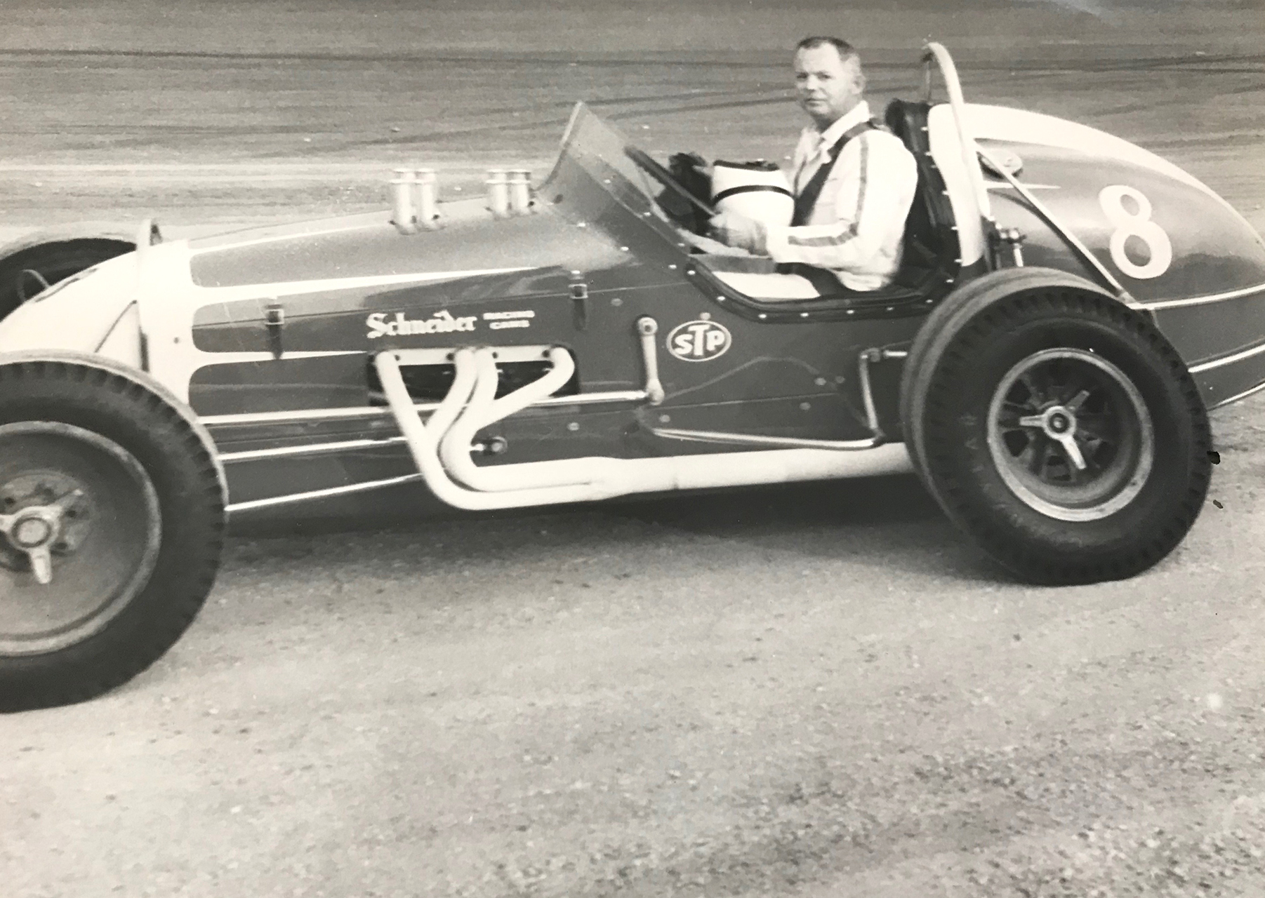"Hall of Fame builder Granvel ""Hank"" Henry was also a driver. Henry was killed in a race crash in '68. He was 42. (Oskie archive)"