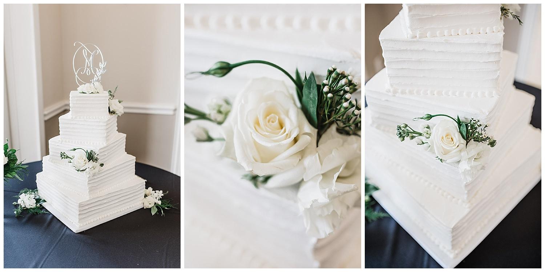 White five tier wedding cake