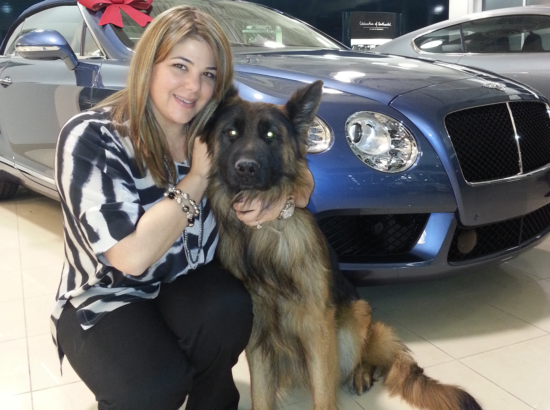 Jessica Towbin with Leo