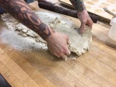 fold the dough into thirds