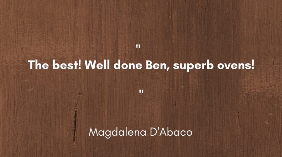 Magdalena D'Abaco Pizza Oven Testimonial - Landscape.png