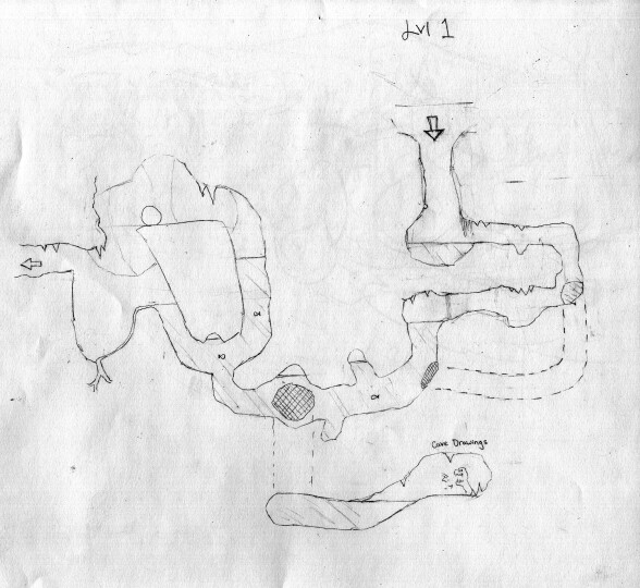 Some early pencil level drawings of the water level.