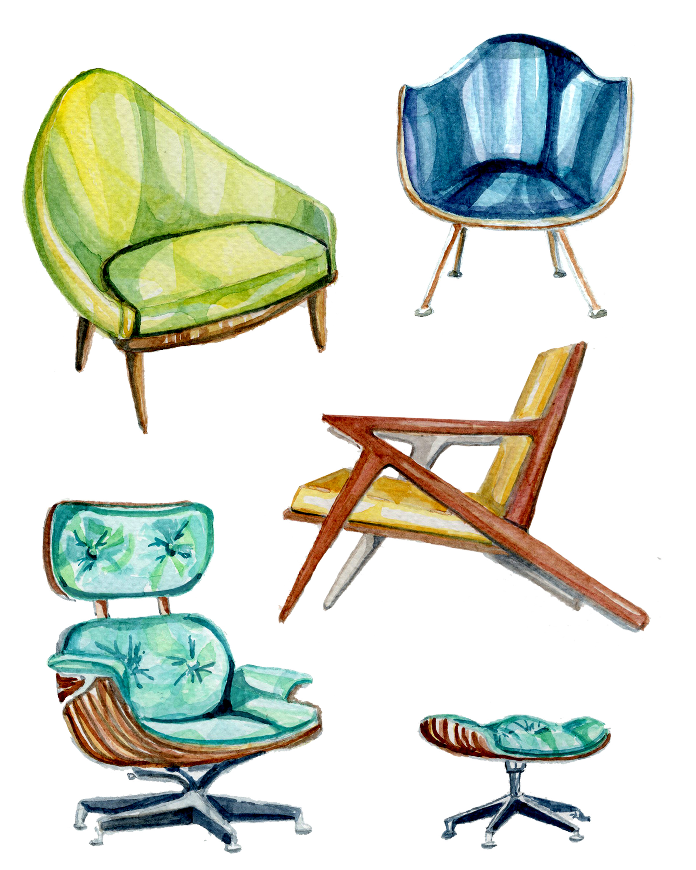 Mid Century Chairs Print.jpg