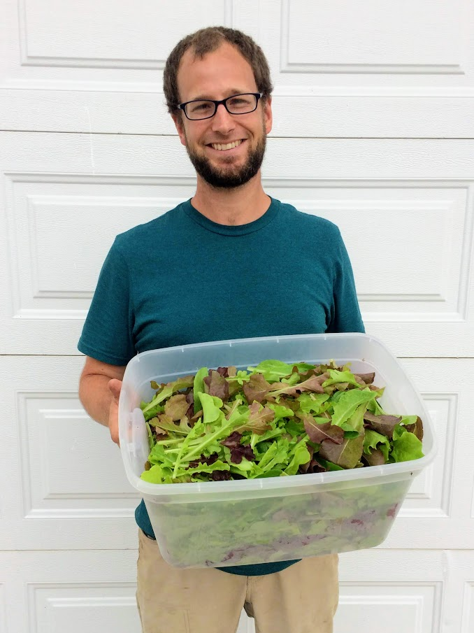 And here is Ian Caselli from Caselli's Market Garden in Brandon-the expert on growing salad greens!