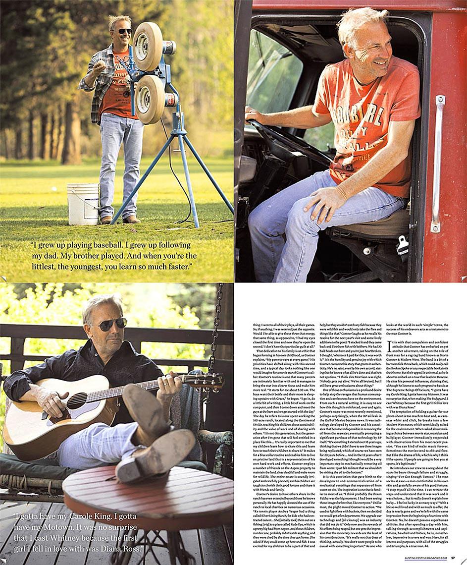 Kevin Costner Portrait Aspen CO