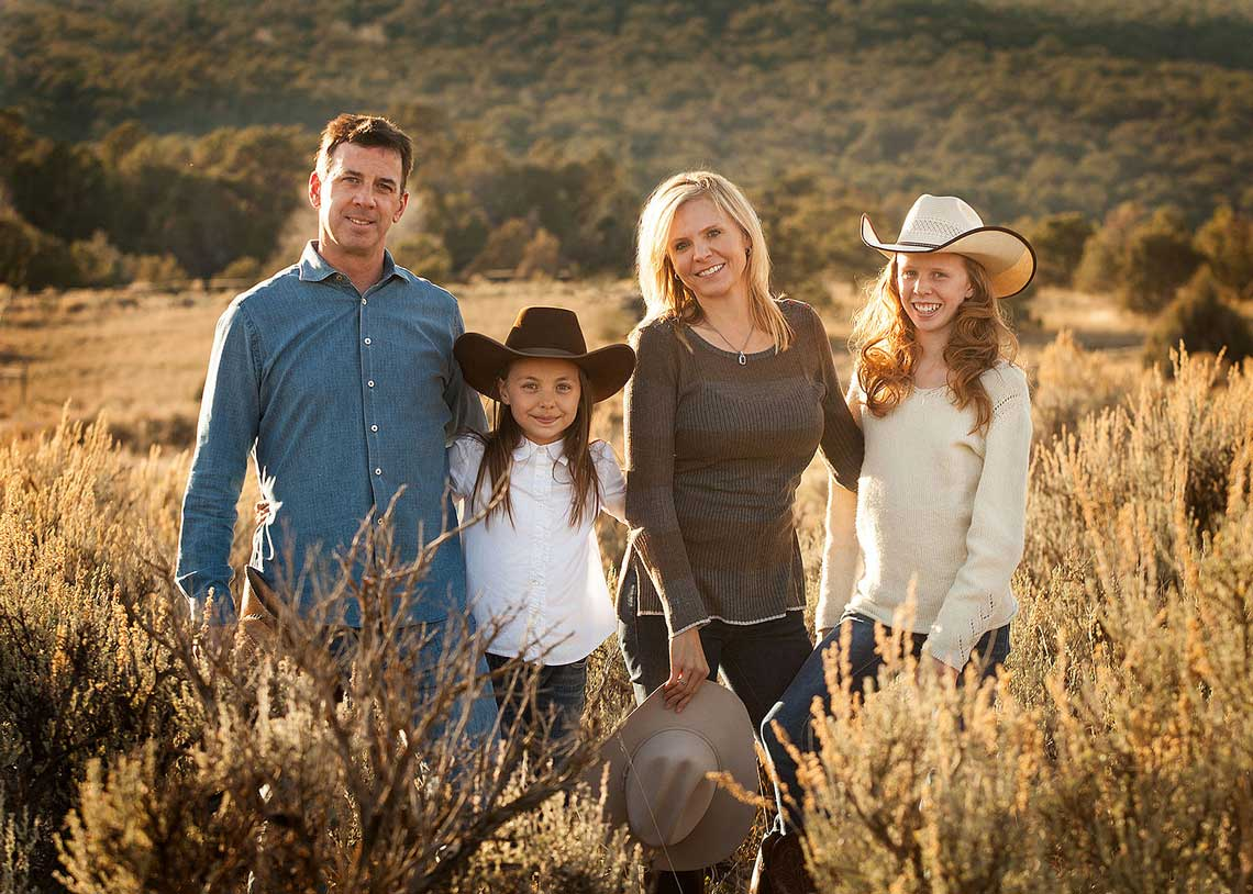 Fall Colors Family Portrait Aspen CO