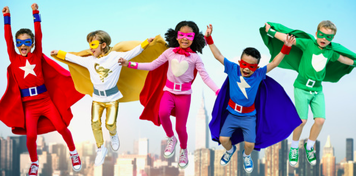 Superhero - Are you ready to save the world? But first, we have to protect your identity. To prepare for this special mission each kiddo will design their mask, practice on the challenge courses, work on your superpowers and much more.