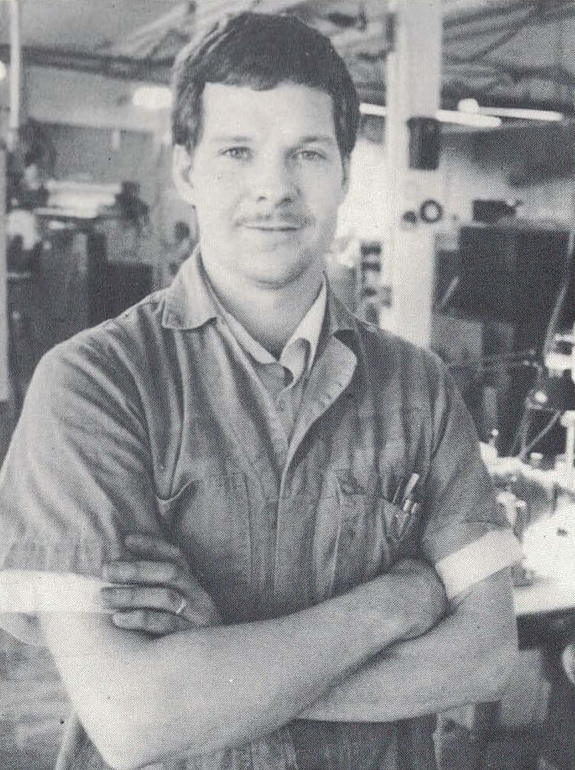 Ken Hastreiter in 1991, owner and expert machinist. Source: the Marshfield News-Herald.