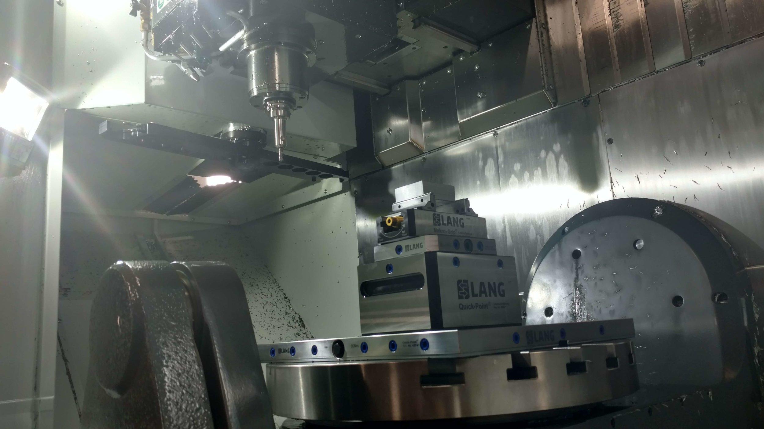 5 axis mill platter