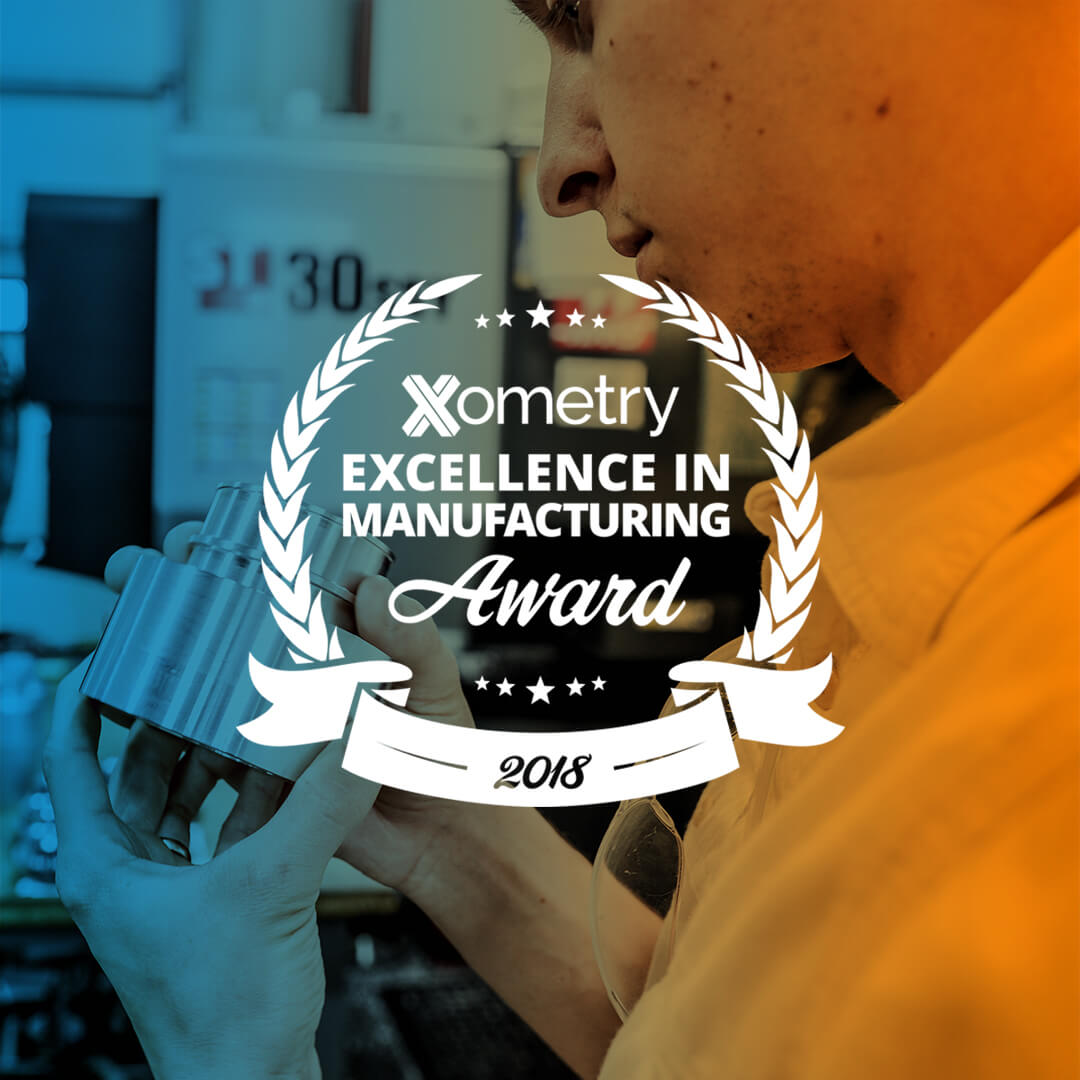 xometry supplier wins excellence in manufacturing award