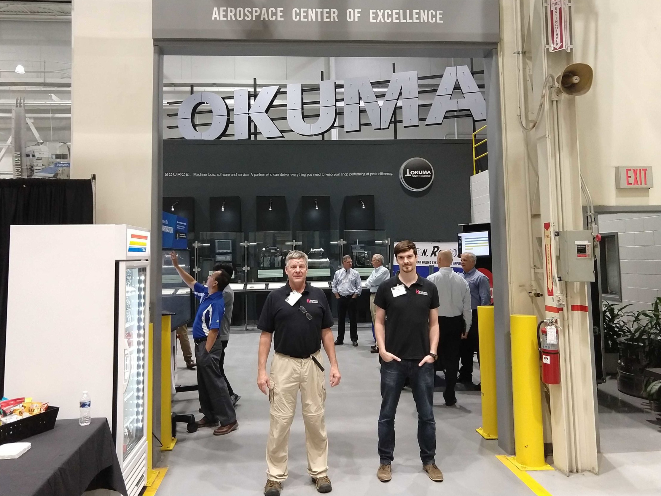 Ken and Kylan Hastreiter at Okuma America Headquarters in North Carolina. Hastreiter Industries cares deeply about truly understanding and then serving customer needs, while subsequently building long term relationships, in which Hastreiter looks for suppliers with similar mentality.