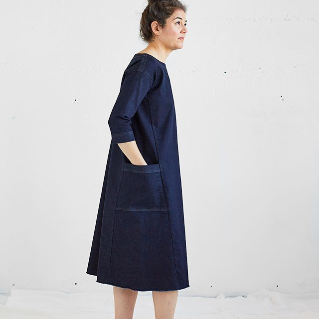 I'd take this last Greta dress in stretch denim home if I didn't already have two! One to wear now and one for future backup!! * Who wants to grab it at final markdown price of $100? It's a size small and you can buy it at frazierandwing.com. * Tomorrow is the LAST day I will be shipping orders.