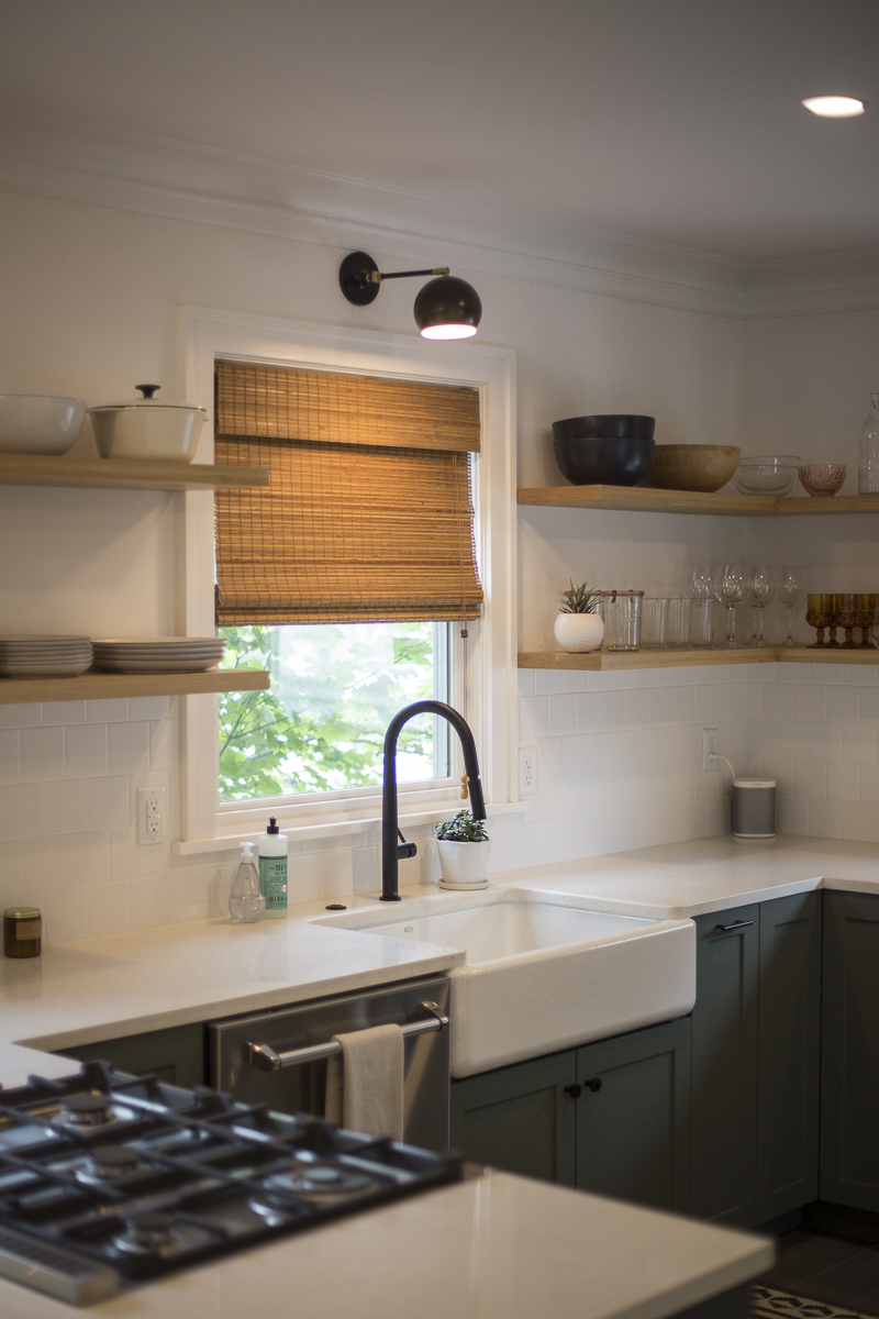 Harka Architecture Rose City Park Kitchen Bamboo Blinds