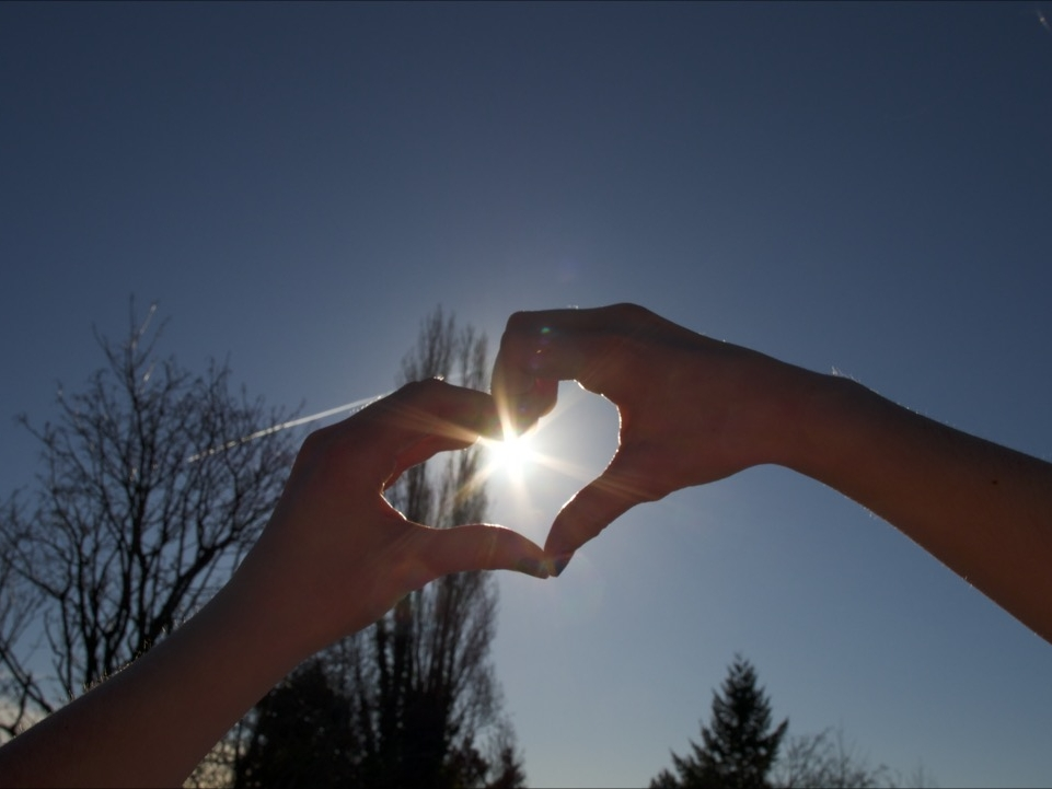 Let the sunshine in your heart