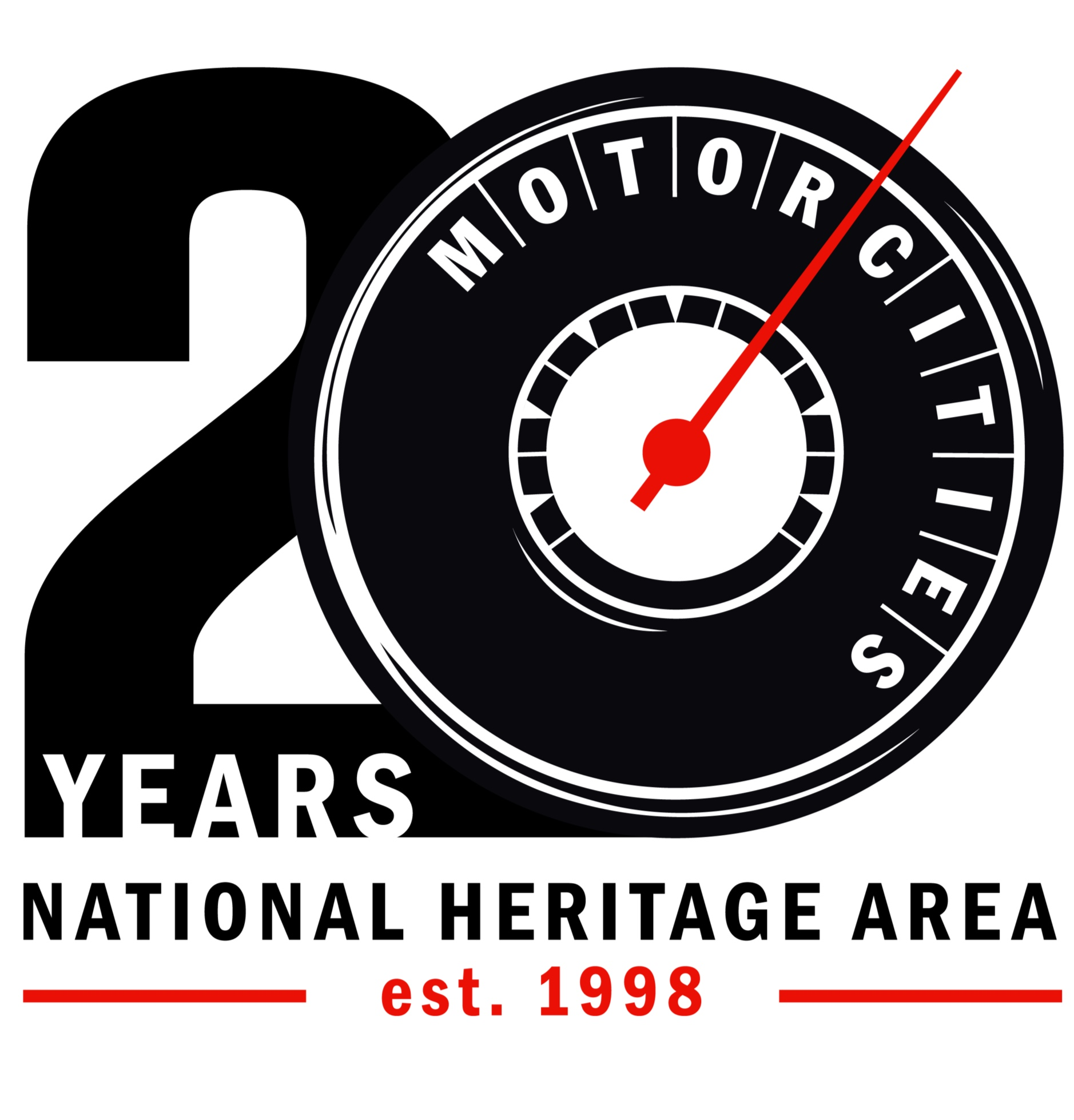 - Motorcities National Heritage Area: 20 Years Commemorative Logo Design