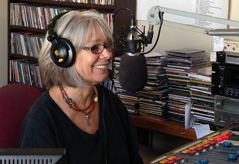 Linda in the KFMG studios.