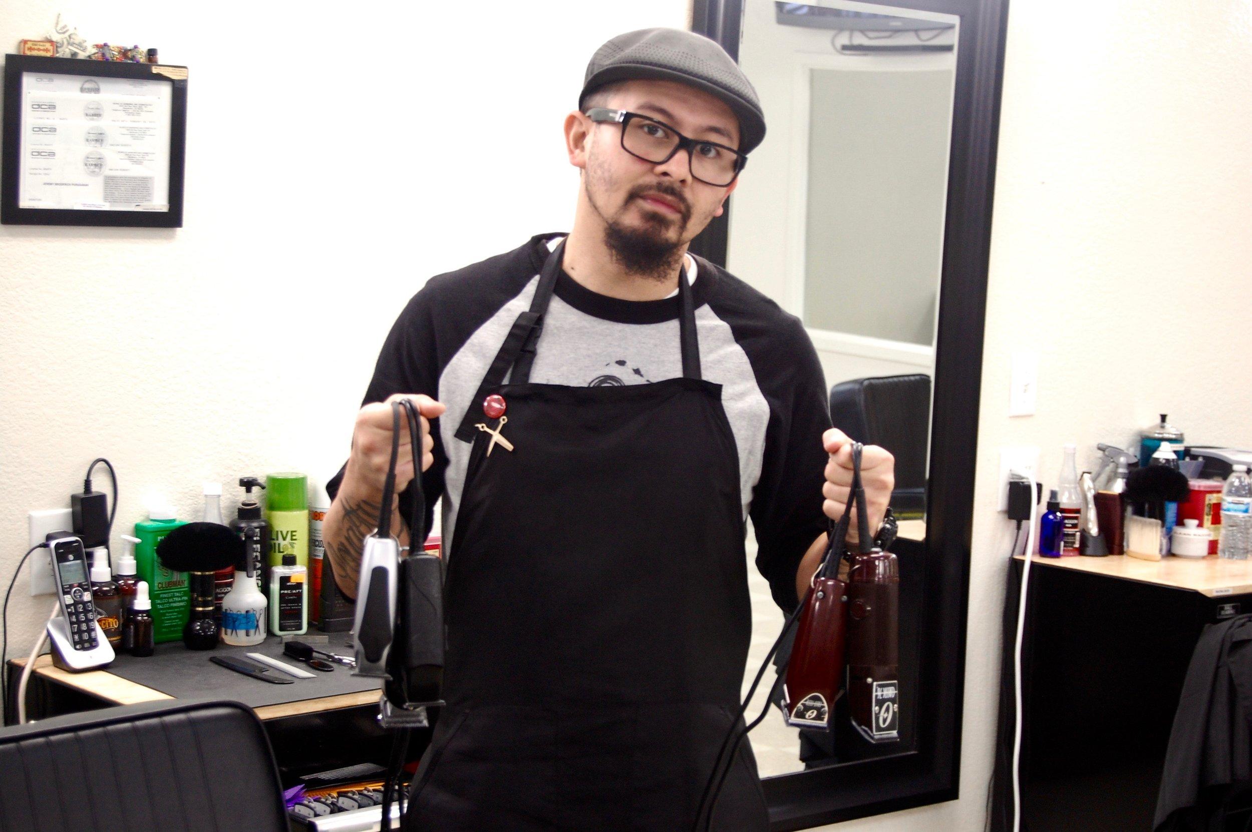 Jeremy at Hall of Fame Barber Shop, Vallejo