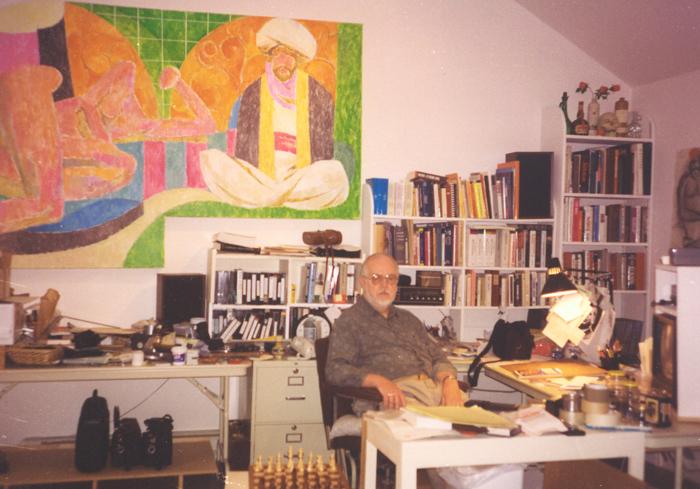 Ed Henrion in his studio circa 1996
