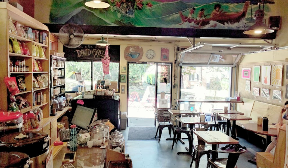 Inside of the Seven Coffee Market and Cafe