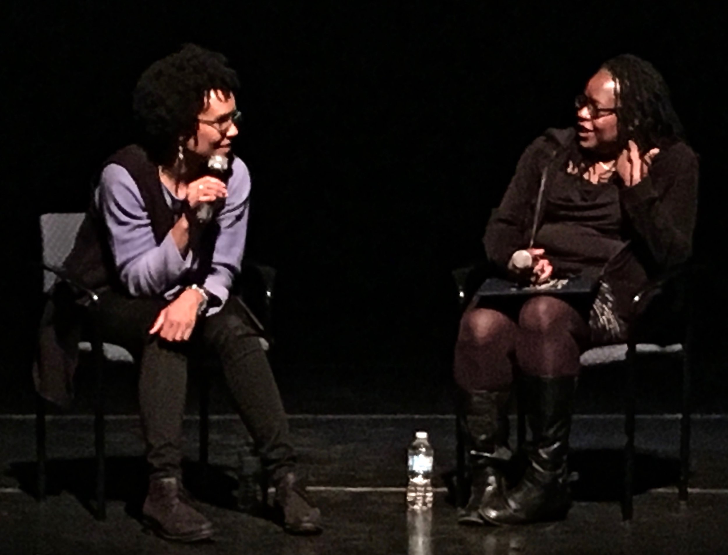 Lorraine Hansberry: Sighted Eyes/Feeling Heart director  Tracy Heather Strain (left) in conversation with Yvonne Welbon (right)