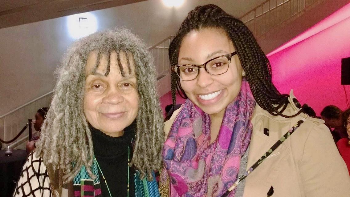 with Poet Sonia Sanchez