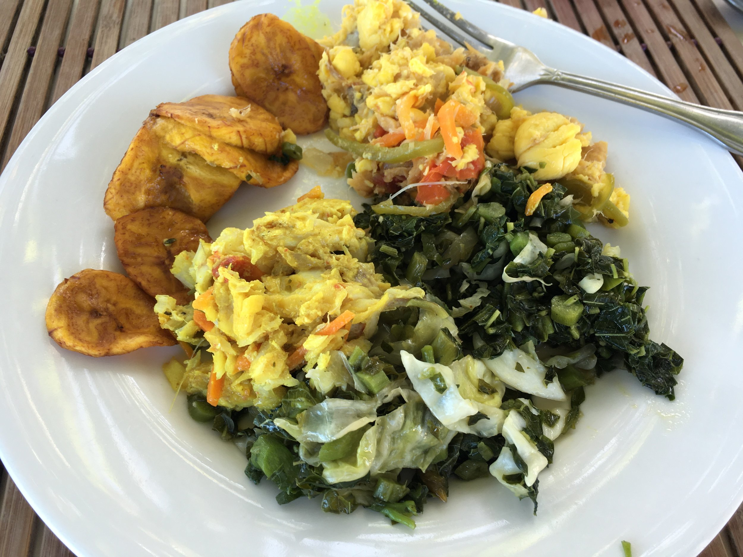 Traditional Jamaican Breakfast—Negril, Jamaica