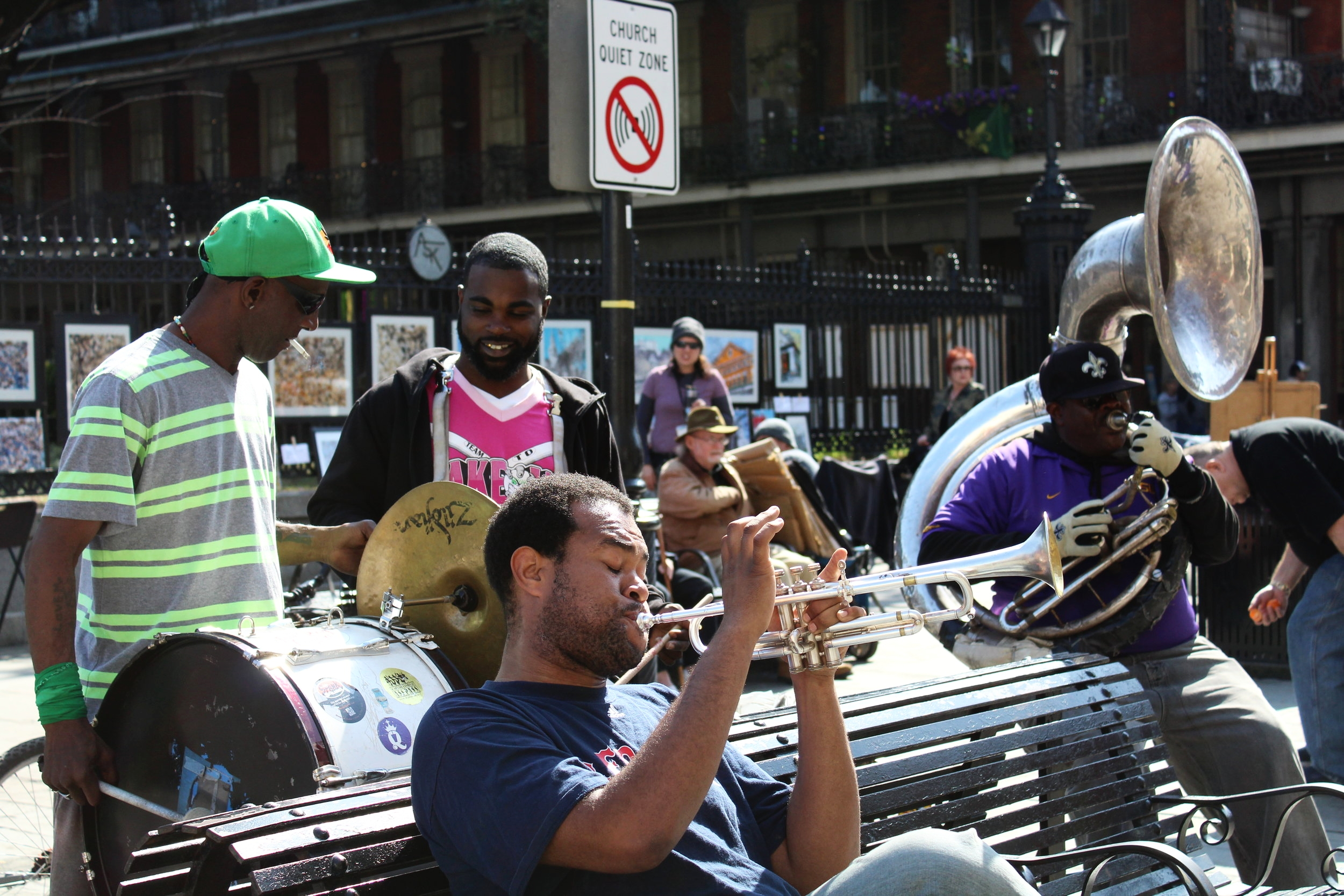 Jazz Band in Jackson Square, New Orleans