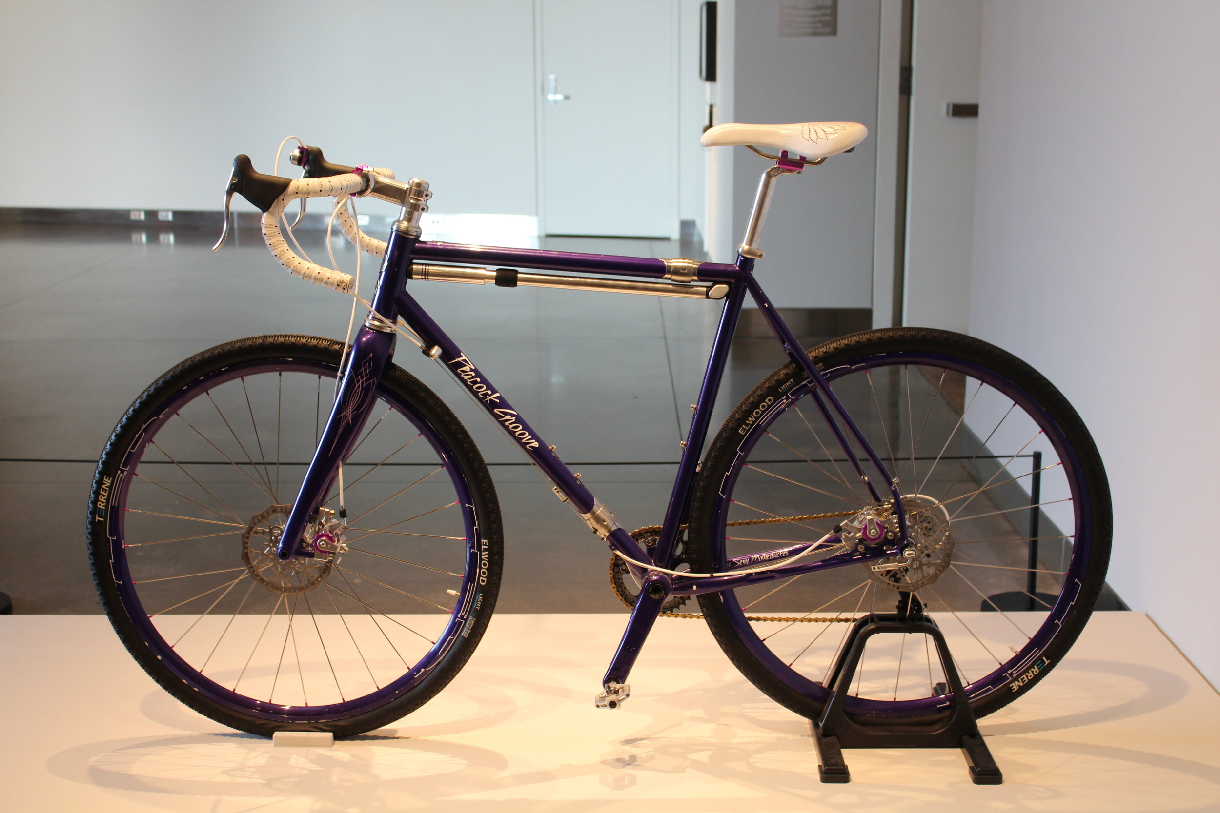 Prince bicycle by independent frame builder, Erik Noren of Peacock Groove; winner of Best in Show and Best Theme Bike at the 2017 North American Handmade Bicycle Show.