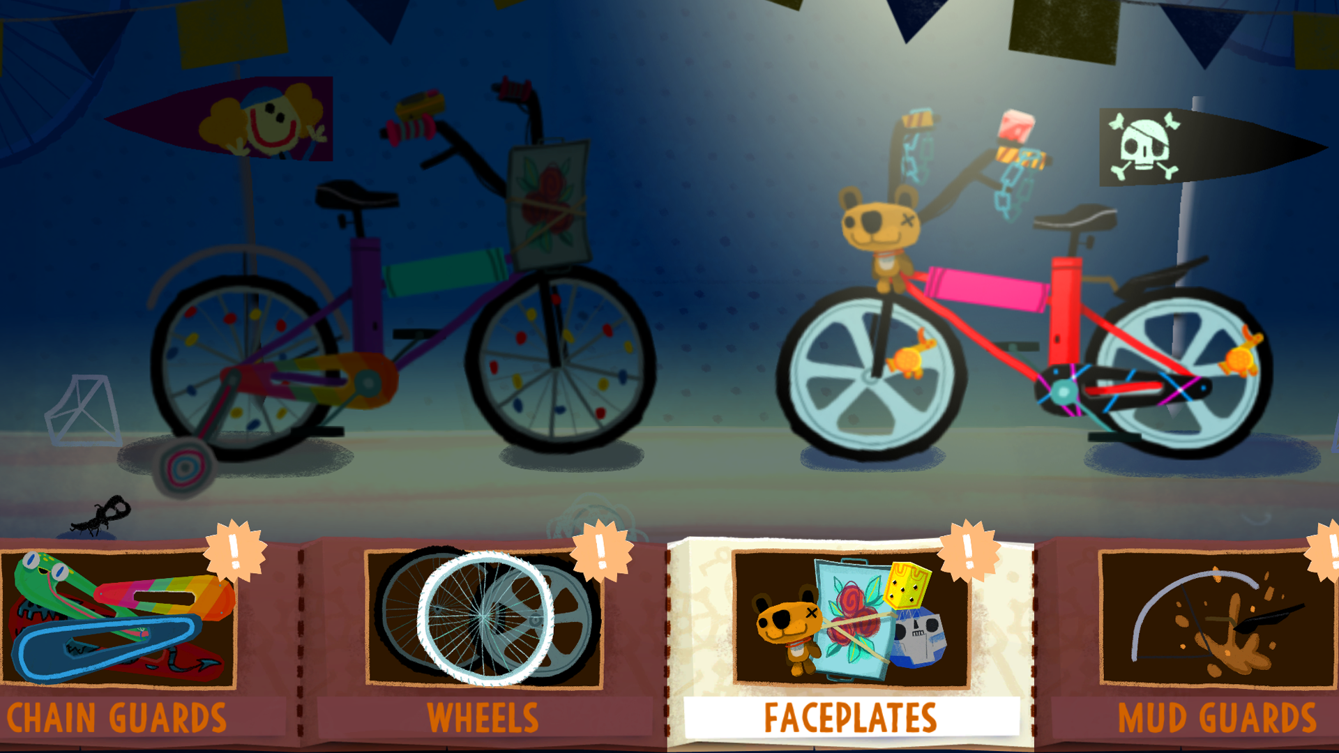 New wheels, custom paint jobs, pirate-flags. Express yourself in bicycle form!  (Click to Expand)