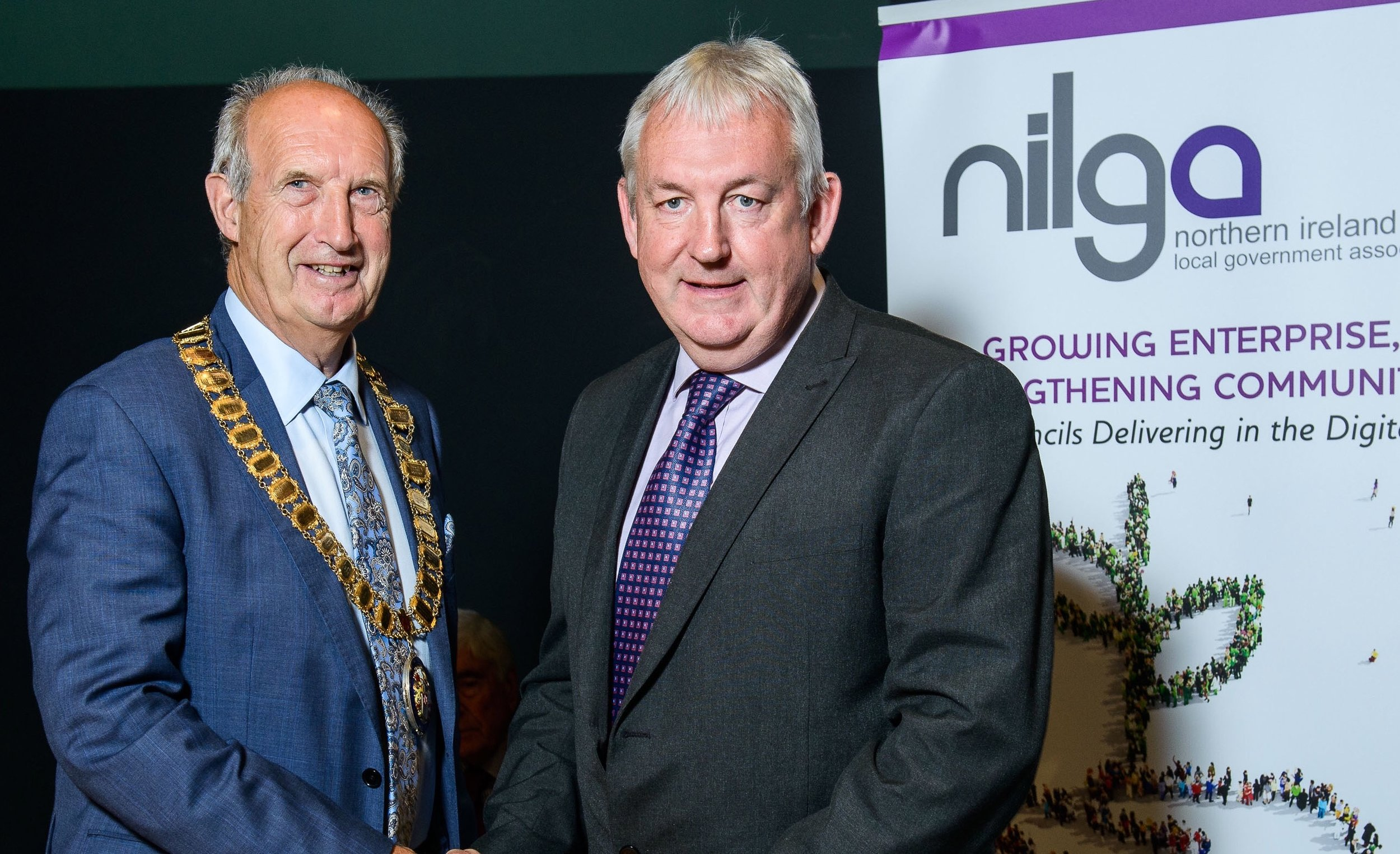 NILGA Pres Alderman Arnold Hatch and Cllr Sean McPeake.jpg