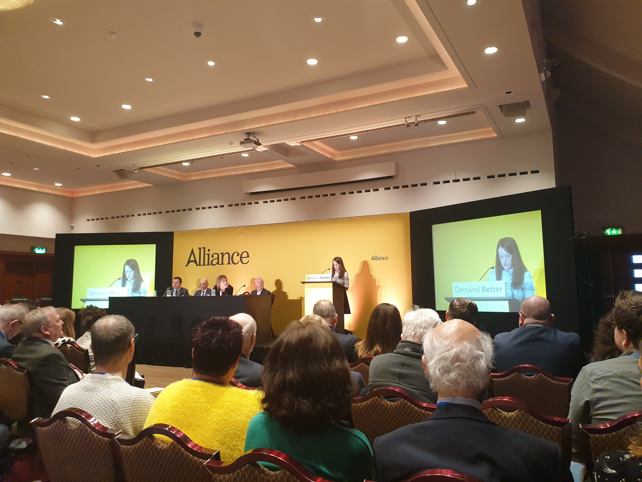 The City Deal panel at the Alliance Party's 49th annual conference.
