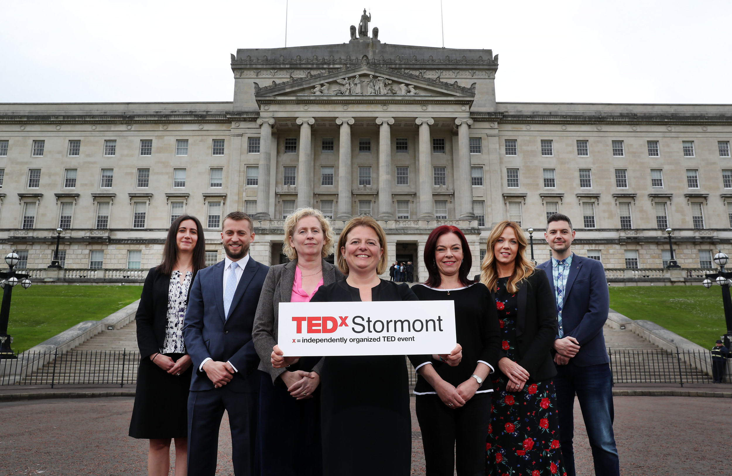 Launching TEDxStormont 2019:  Naomi Majury, Allstate, Conor Aiken, Herbert Smith Freehills, Siobhan Broderick, Urban Villages NI, Eva Grosman, TEDxStormont Curator, Clare Bailey MLA, Selina Wallace, Smarts and Mark Whyte, Belfast Live.