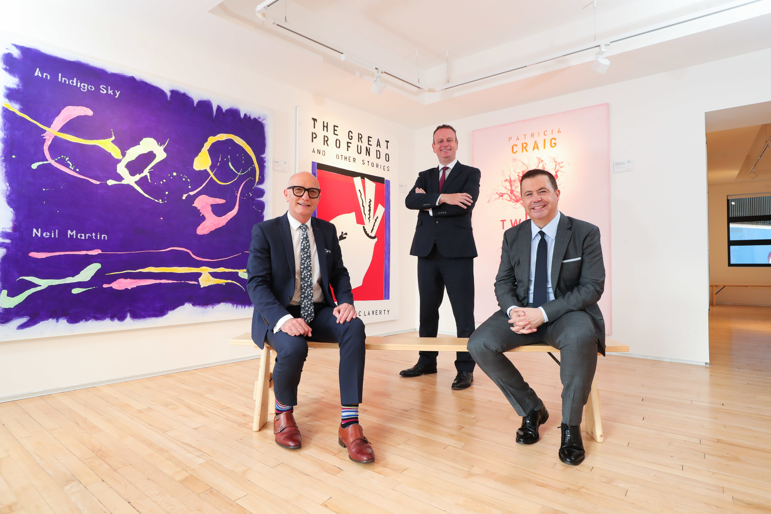 (Left to right)  Colin Neill, Hospitality Ulster, Stephen Kelly, Manufacturing NI and Glyn Roberts, Retail NI.