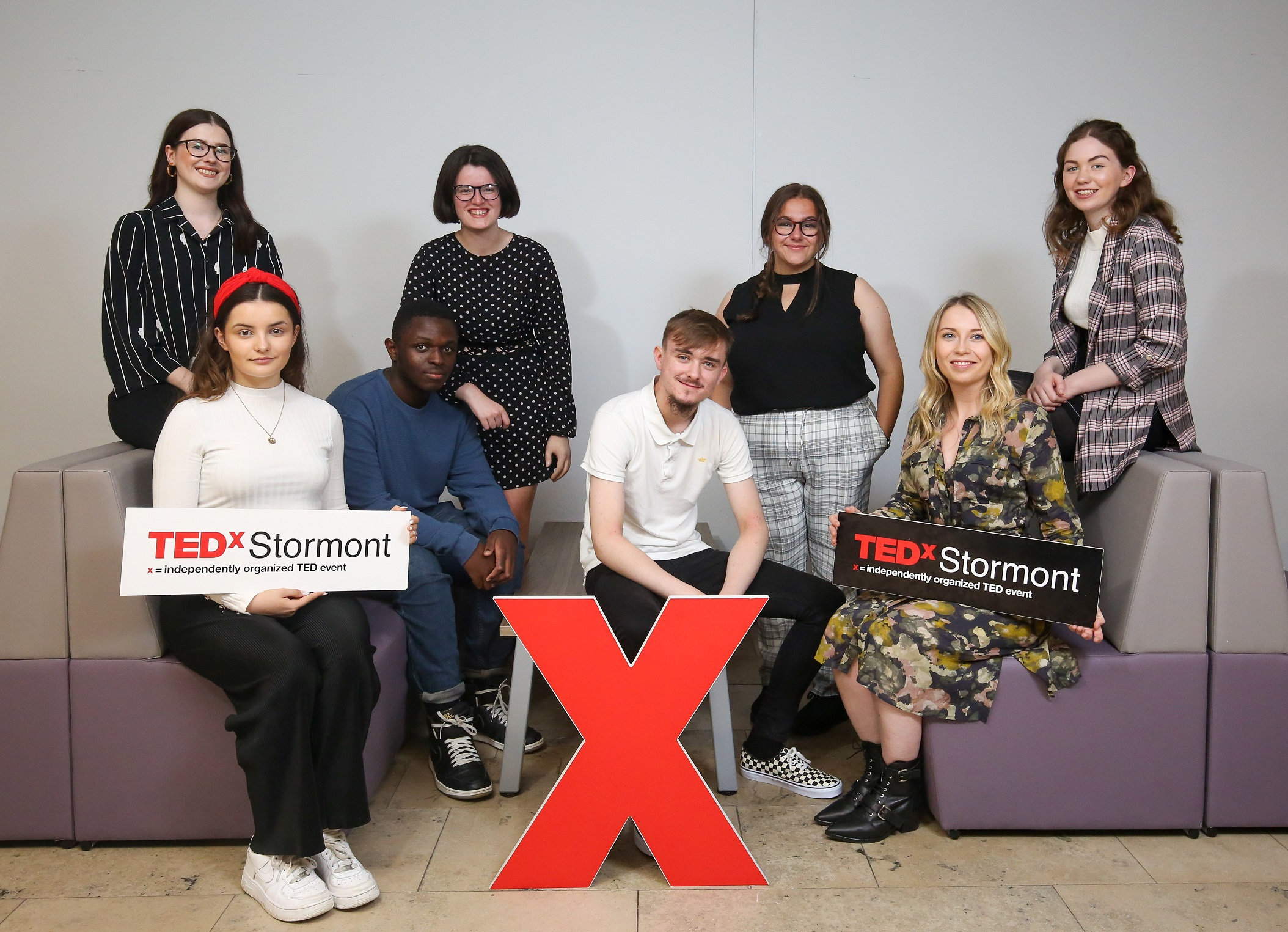 'Talk like TED' participants Rebecca Toolan, Tegan Nesbitt, Nathan Ignacio Alexio, Amy Doherty, Jack Ellison, Beth Vance, Maria McStravick and Catriona Walsh