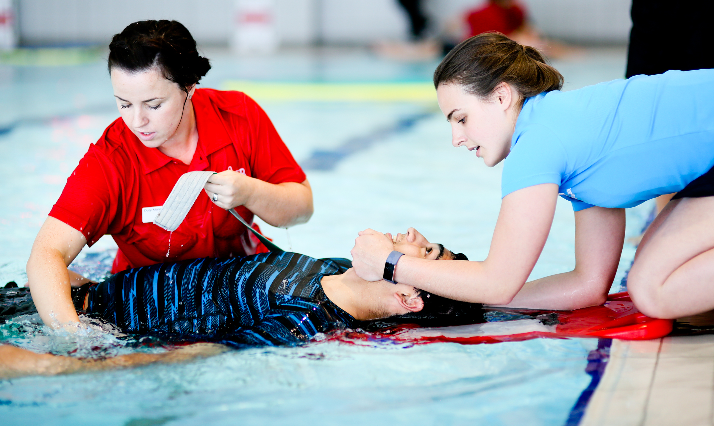 Lifeguards from different leisure centres across Northern Ireland take part in the annual GLL Top Team competition at Olympia Leisure Centre in Belfast.
