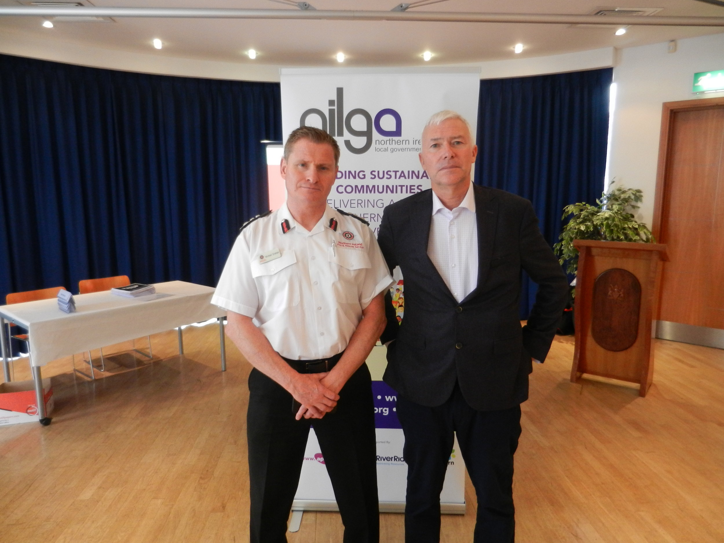 NILGA Chief Executive with Interim Chief Fire & Rescue Officer Michael Graham