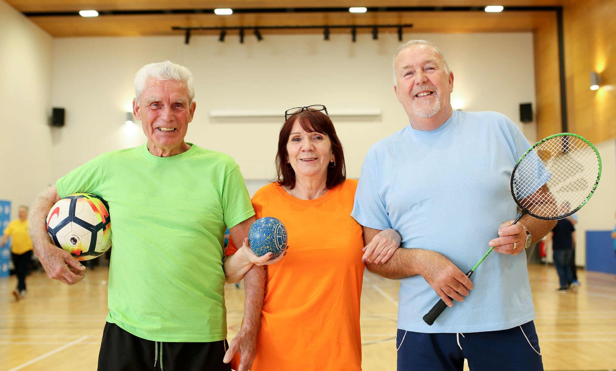 The winning team of the 2018 Better Club Games from Shankill Leisure Centre.