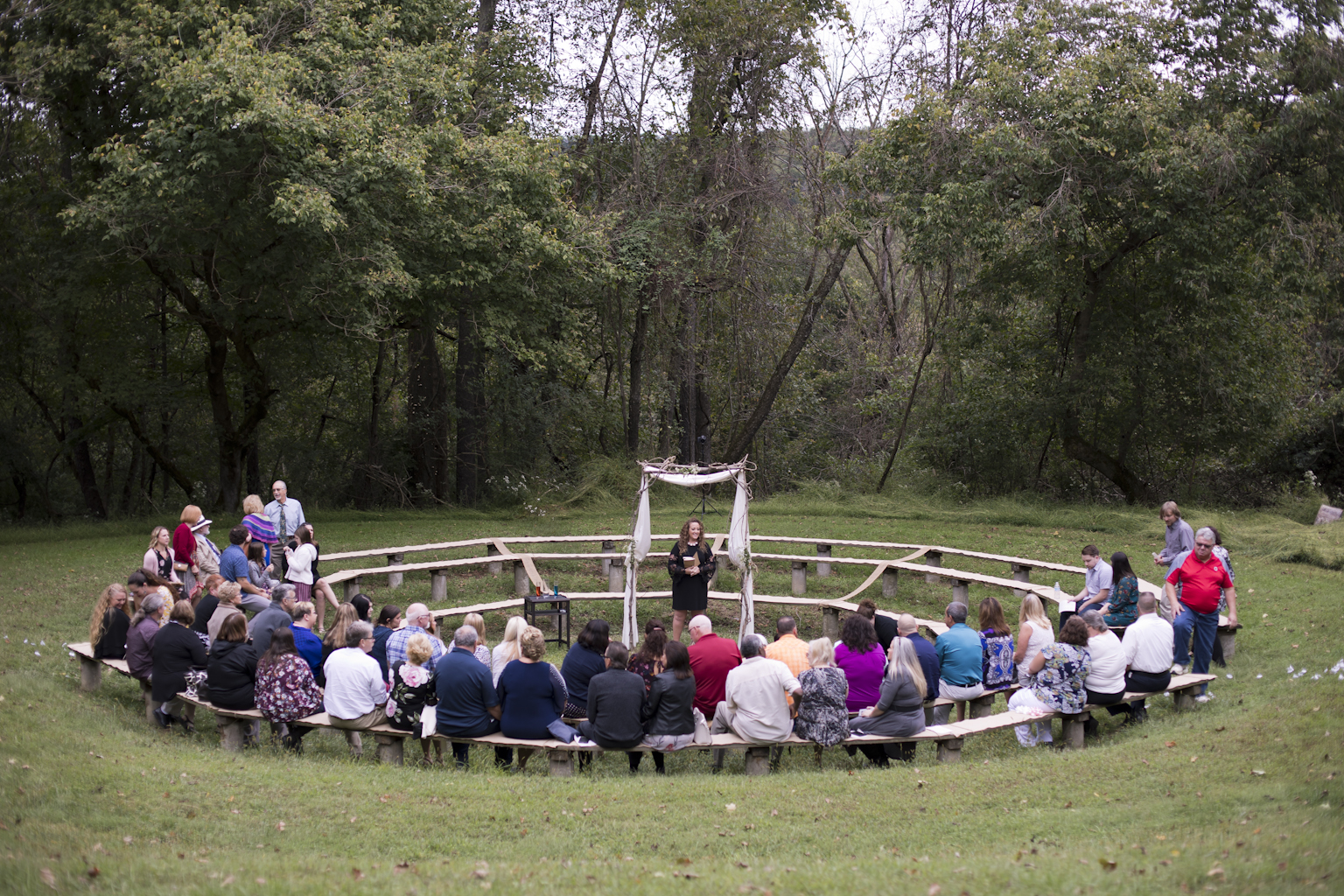 My first wedding in the round! This was really cool and made a very intimate and special circle around these two special people tying the knot.