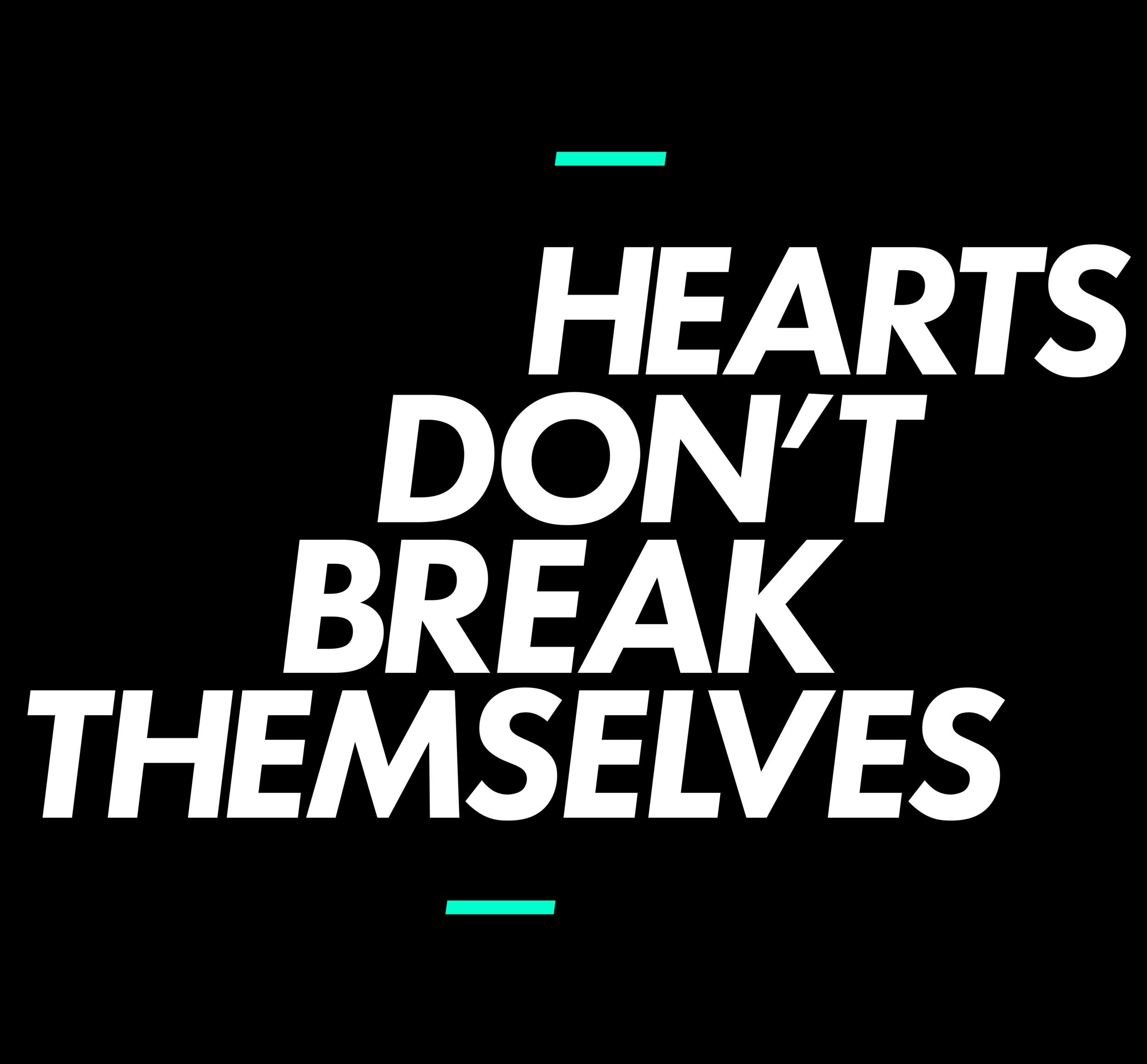 HEARTS DON'T Tee -