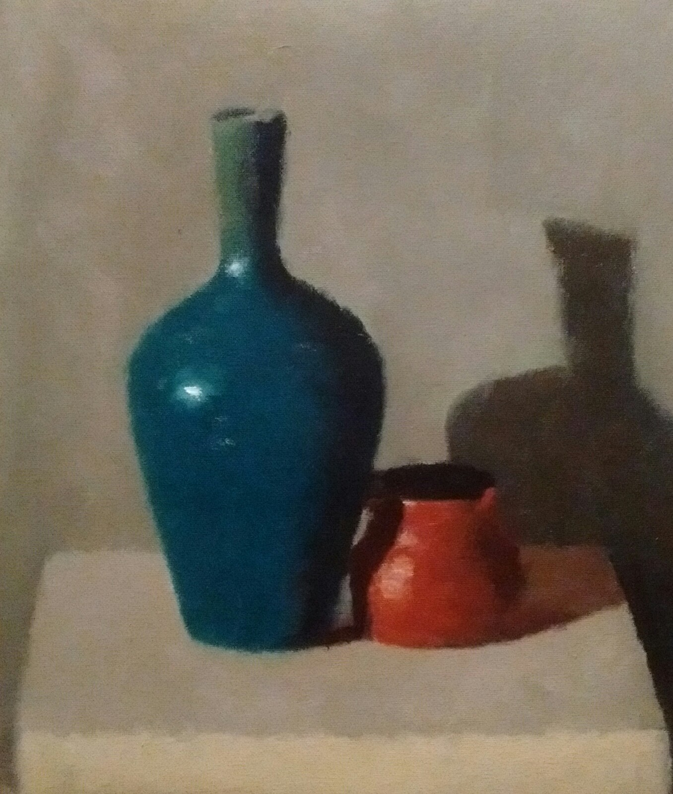 Blue Vase and Orange Jug