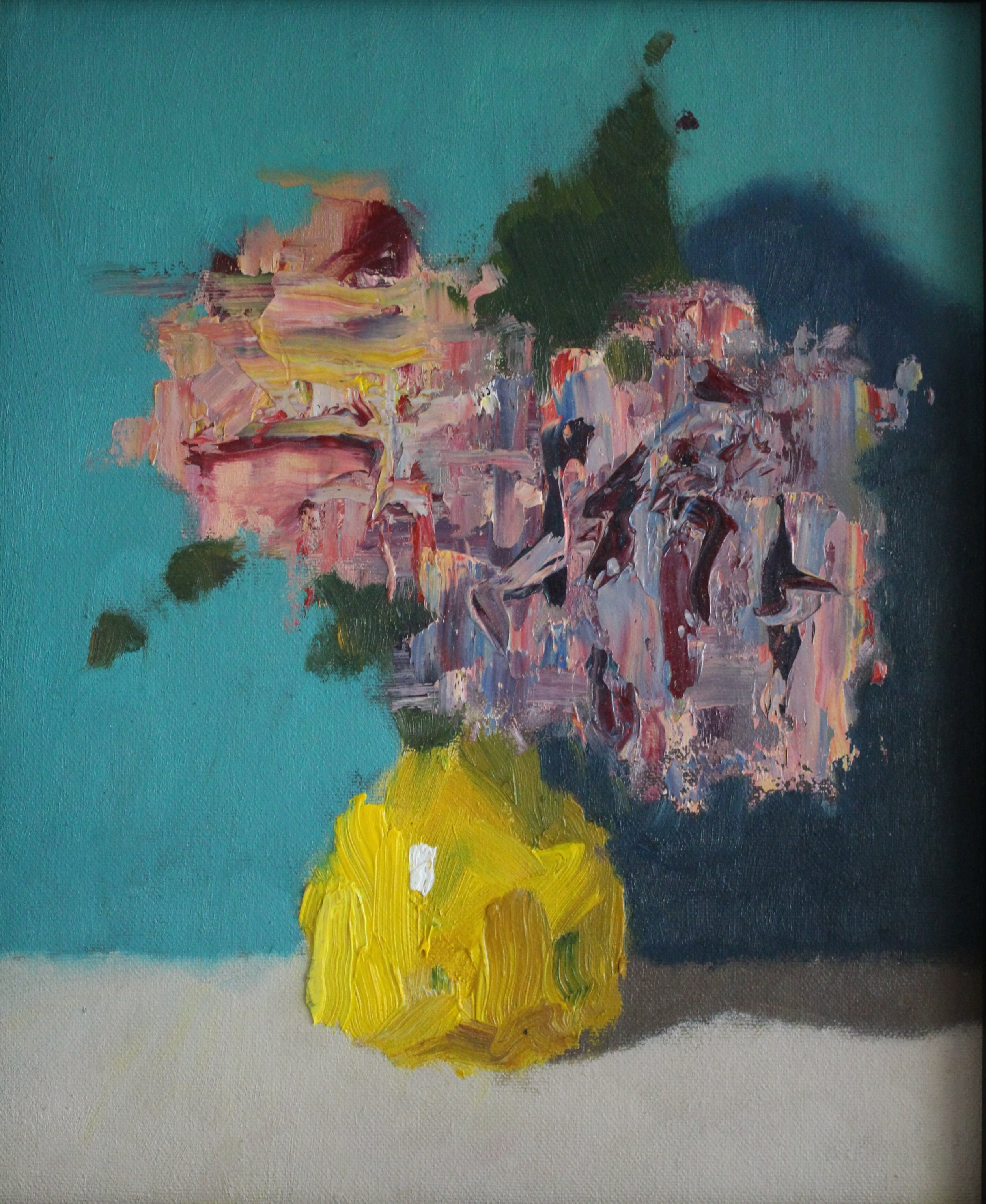 Flowers in Yellow Vase